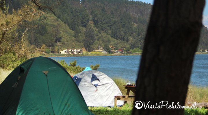 millaco camping by the lake Cahuil
