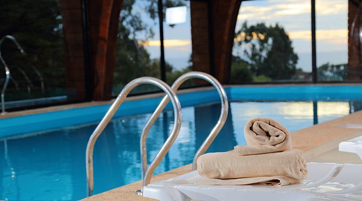 heated pool and spa cabanas pichilemu patagonia chile coast