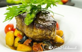 filete con ñoquis grow the sal restaurant Pichilemu