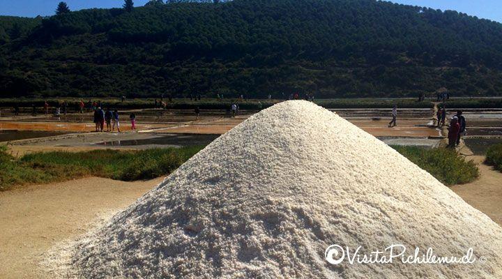 montículo de sal de mar de Cahuil