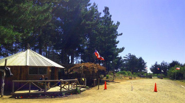 Dog acampar entrada lagoa maneira Cahuil Pichilemu