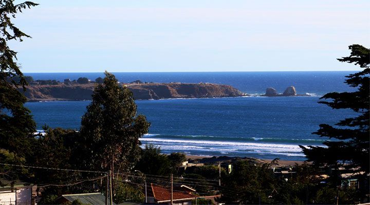 beautiful beach view cabanas pichilemu