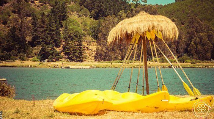 kayaks camping millaco cahuil, pichilemu, chile