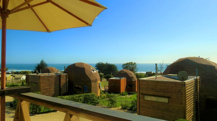 view from the terrace pichilemu domes