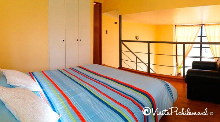 habitacion matrimonial tipo loft cabanas lagumar cahuil