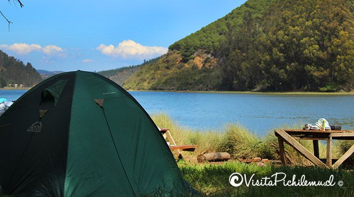 camping by the lake Cahuil pichilemu