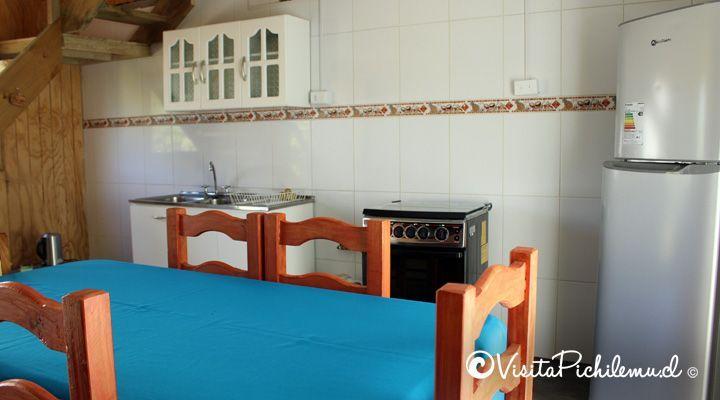 cocina y comedor cabanas las salinas cahuil