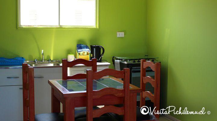 sala de jantar e cozinha departamento de sal Cahuil