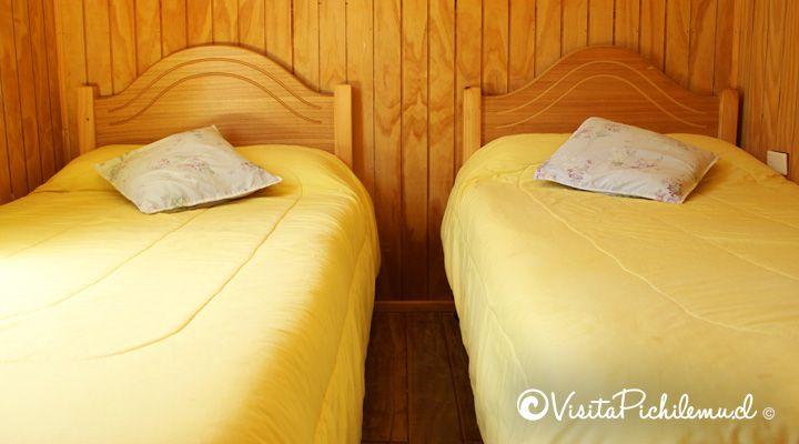 Quarto para duas pessoas cabines salinas Cahuil