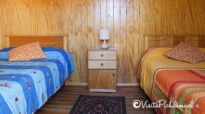 Quarto duplo cabanas sal Cahuil