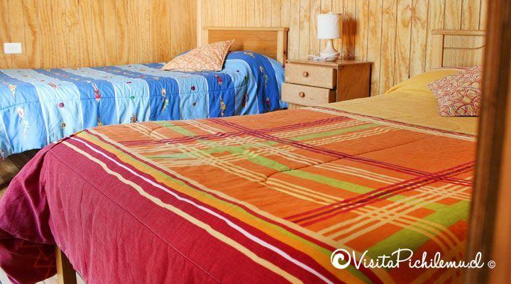 quarto para 2 cabanas pessoas Cahuil sal