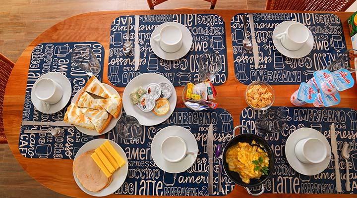 desayuno continental cabanas costa patagonia pichilemu