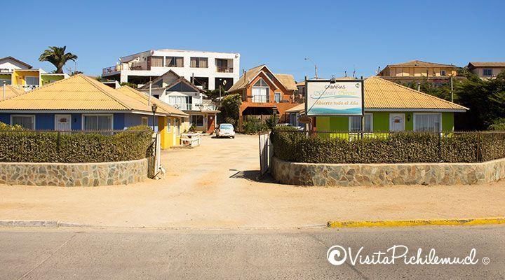 entrada de Santa Irene cabanas à beira-mar pichilemu