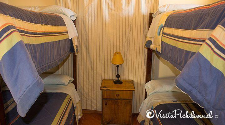 quarto para 4 Santa Irene cabanas pessoas Pichilemu