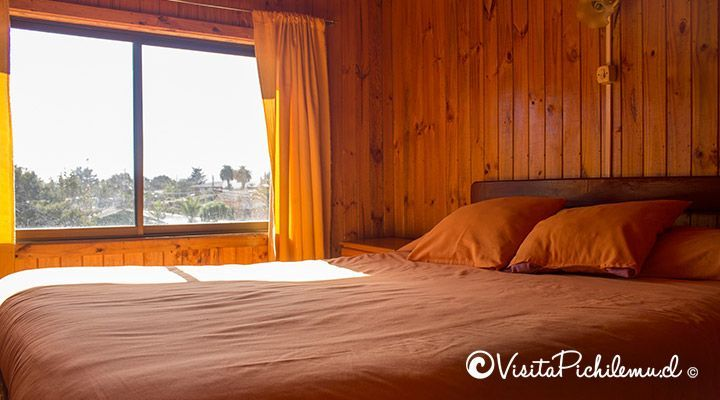cabanas double bedroom doors sun pichilemu