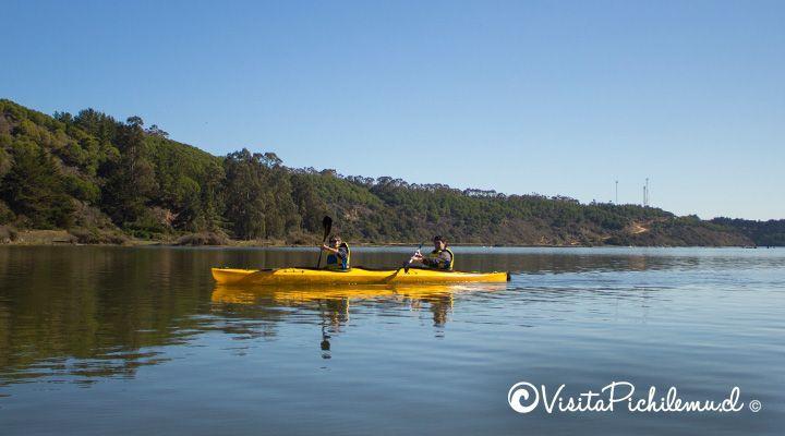 kayak tour on the lagoon of Cahuil pichilemu