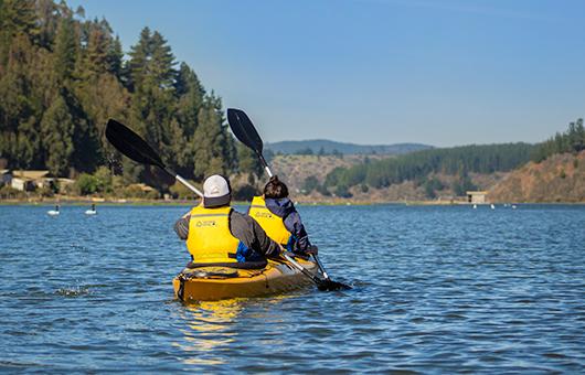 Cahuil kayak lagoon activities in Pichilemu